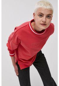 Prosto. - Prosto - Bluza. Kolor: czerwony. Wzór: nadruk