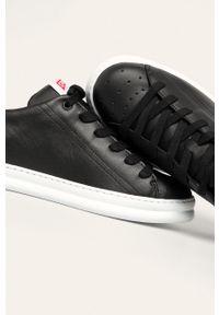 Czarne sneakersy Camper z okrągłym noskiem, na sznurówki, z cholewką #4