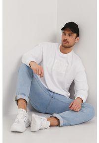 Diesel - Bluza bawełniana. Okazja: na co dzień. Kolor: biały. Materiał: bawełna. Wzór: aplikacja. Styl: casual