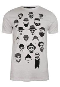 Biały t-shirt Brave Soul na co dzień, casualowy