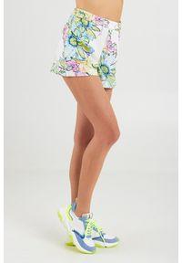 Szorty Patrizia Pepe w kolorowe wzory, na lato, z podwyższonym stanem, rockowe