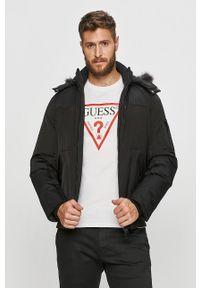 Czarna kurtka Guess Jeans z kapturem