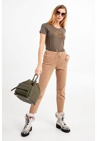 Trussardi Jeans - TOREBKA TRUSSARDI JEANS. Wzór: gładki, moro. Styl: militarny