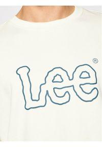 Lee Bluza Basic Crew Logo L80XSPNQ Beżowy Regular Fit. Kolor: beżowy