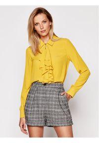 Patrizia Pepe Koszula 2C1240/A8I1-Y386 Żółty Regular Fit. Kolor: żółty