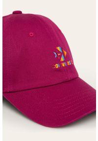 Brązowa czapka z daszkiem Converse z aplikacjami