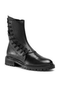 Czarne buty trekkingowe Eva Longoria z cholewką