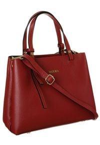 Skórzana torebka damska czerwona Badura T_D211CR_CD. Kolor: czerwony. Materiał: skórzane