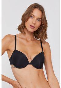 Emporio Armani Underwear - Biustonosz modelujący. Kolor: czarny. Materiał: poliamid. Rodzaj stanika: odpinane ramiączka, biustonosz z fiszbinami. Wzór: gładki