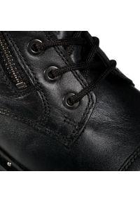 Czarne botki Gabor na obcasie, na średnim obcasie