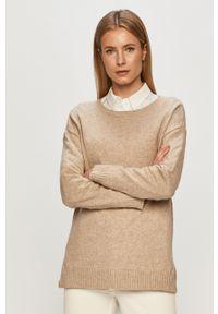 Sweter Vila gładki, z długim rękawem, długi