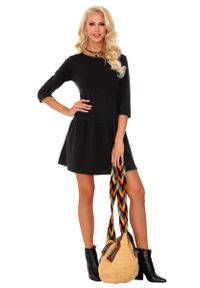 Czarna sukienka wizytowa Merribel casualowa