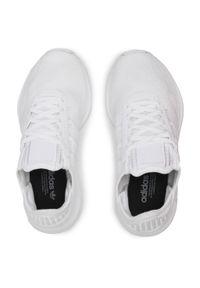Białe półbuty casual Adidas na co dzień, z cholewką
