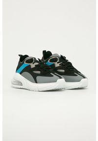 Czarne sneakersy D.A.T.E. z okrągłym noskiem, na sznurówki