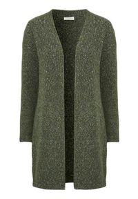 Zielony sweter Freequent melanż, z długim rękawem