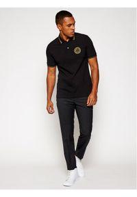 Czarna koszulka polo Versace Jeans Couture polo