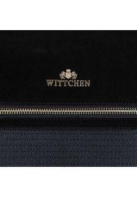 Czarna torebka worek Wittchen klasyczna, skórzana