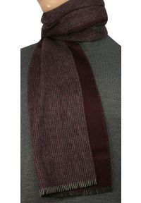 Czerwony szalik V. Fraas elegancki, w kratkę, na lato