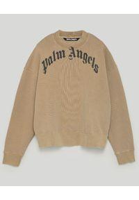 PALM ANGELS - Beżowa bluza z logo. Kolor: beżowy. Materiał: bawełna, dzianina