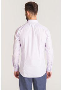 Fioletowa koszula Joop! Collection biznesowa, na lato, na co dzień