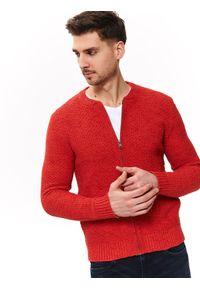 TOP SECRET - Sweter rozpinany typu bomber. Okazja: na co dzień. Kolor: pomarańczowy. Materiał: dzianina. Sezon: wiosna, lato. Styl: elegancki, casual