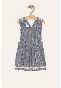 Niebieska sukienka Name it z dekoltem karo, na ramiączkach, mini