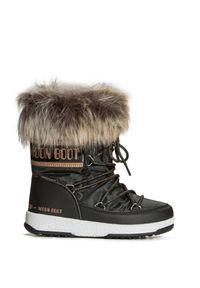 Moon Boot - Buty zimowe MOON BOOT JR GIRL MONACO LOW WP. Materiał: kauczuk, futro, nylon. Szerokość cholewki: normalna. Sezon: zima