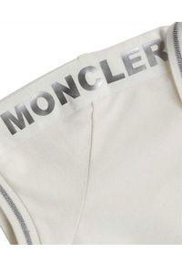 MONCLER KIDS - Biała koszulka polo 8-14 lat. Typ kołnierza: polo. Kolor: biały. Materiał: bawełna. Sezon: lato. Styl: klasyczny