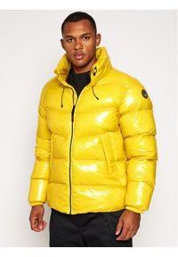 Napapijri Kurtka puchowa Loyly Shiny NP0A4E Żółty Regular Fit. Kolor: żółty. Materiał: puch