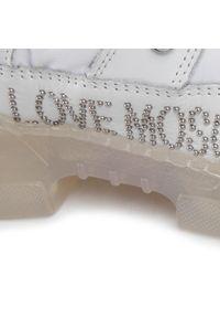 Białe półbuty Love Moschino casualowe, na co dzień, z cholewką