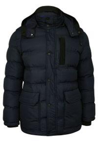 Niebieska kurtka Gustaff z kapturem, na zimę