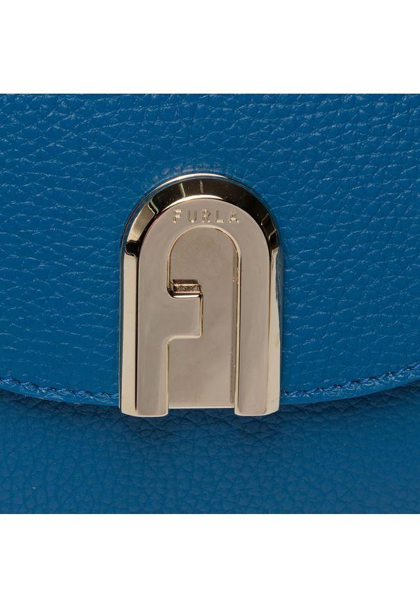 Niebieska torebka klasyczna Furla klasyczna