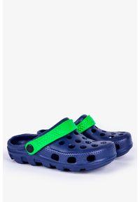 Casu - Granatowe klapki basenowe piankowe casu dt8503. Kolor: niebieski, zielony, wielokolorowy