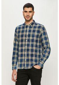 Niebieska koszula Wrangler na co dzień, długa, button down, casualowa