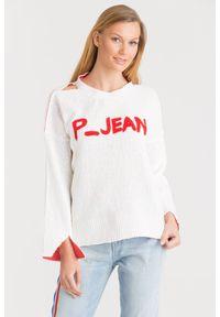 Sweter Pinko na spacer, krótki, z długim rękawem