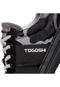 Czarne półbuty Togoshi z cholewką, na co dzień