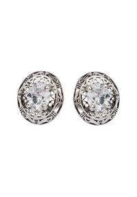 Polcarat Design - Kolczyki srebrne z cyrkoniami K3 1569. Materiał: srebrne. Kolor: srebrny. Kamień szlachetny: cyrkonia