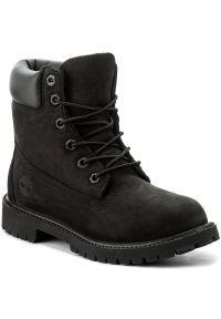 Czarne buty trekkingowe Timberland z cholewką