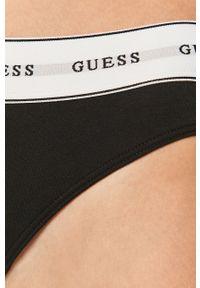 Guess Jeans - Stringi. Kolor: czarny. Materiał: jeans