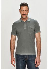 Szara koszulka polo Diesel na co dzień, gładkie, krótka, polo