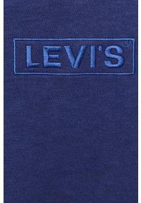 Niebieska bluza nierozpinana Levi's® w kolorowe wzory, z kapturem, na spotkanie biznesowe