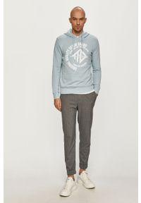 Niebieska bluza nierozpinana Tom Tailor z kapturem, na co dzień, z nadrukiem, casualowa #5
