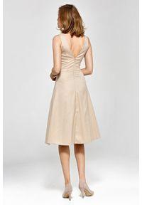 Sukienka wizytowa z krótkim rękawem, elegancka
