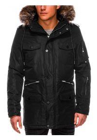 Czarna kurtka Ombre Clothing na zimę