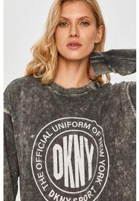 Szara sukienka DKNY mini, casualowa, na co dzień