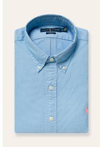Niebieska koszula Polo Ralph Lauren casualowa, polo, długa