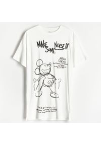 Reserved - Koszula nocna Myszka Miki - Kremowy. Kolor: kremowy