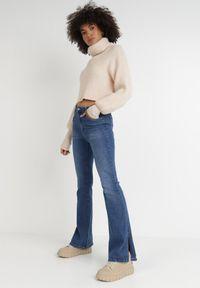 Born2be - Niebieskie Jeansy Dzwony Egadia. Stan: podwyższony. Kolor: niebieski