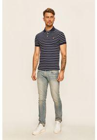 Niebieska koszulka polo Polo Ralph Lauren krótka, na co dzień, casualowa