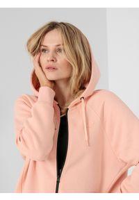 Różowa bluza rozpinana 4f raglanowy rękaw, casualowa